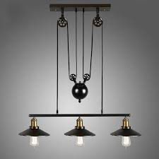 Pulley Pendant Light with Homestia Vintage Pulley Pendant Loft Ceiling Light Hanging Lamp