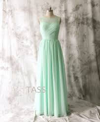 mint bridesmaid dress wedding dress long chiffon dress straps