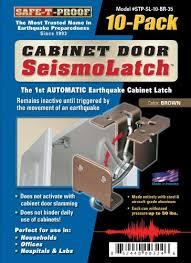 earthquake proof cabinet locks safe t proof disaster preparedness stp sl 10 br 35 cabinet door