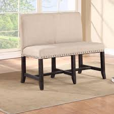 Contemporary Upholstered Bench Bench Furniture Gorgeous Upholstered Dining With Back For