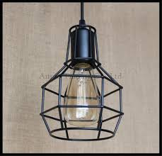 industrial warehouse cage pendant lights american country lamps
