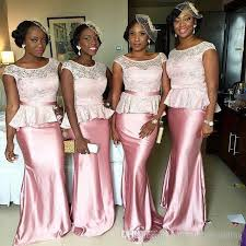 wedding dresses for of honor lace chiffon pink bridesmaid dresses plus size