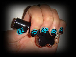 34 black and teal nail designs stylepics