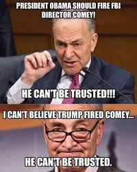 cryin chuck schumer yesterday fire comey he can t be trusted