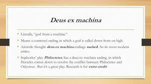 define ex machina and the antigone by sophocles ppt download
