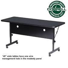 correll deluxe flip top folding table 24