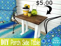 the daily diyer easy diy porch side table saturday randomness