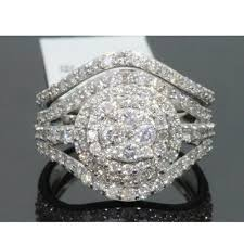 white gold diamond ring jewelry amazing 195 carat 10k white gold diamond ring set poshmark