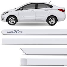 New Jogo Friso Lateral HB20S Branco Polar - Connect Parts @WS67