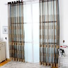 Blue Sheer Curtain Luxury Beige And Blue Sheer Curtains Decorative Window Treatment