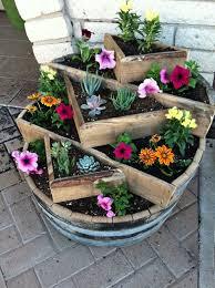 25 beautiful whiskey barrel planter ideas on pinterest patio
