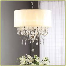 Drum Shade Chandelier Lighting Drum Shade Chandeliers With Crystals Home Design Ideas