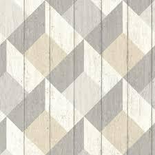 wood geometric geometric wood panelling by albany beige wallpaper direct