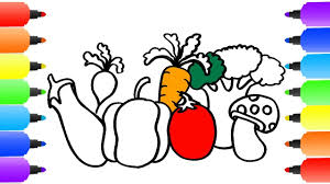 vegetables coloring pages how to draw vegetables youtube videos