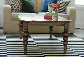 Coffee Table Rounded Edges Curvy Coffee Table Tutorial Decor And The