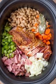 cooker ham and bean soup recipe dinner then dessert