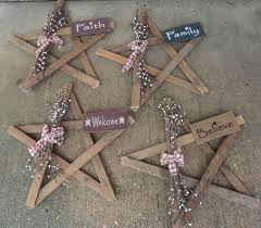 primitive wooden fall items decorated lath wood star 22