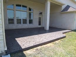 we used aztec concrete and got stamped concrete really nice to