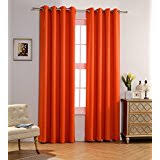 Burnt Orange Curtains Orange Draperies Curtains Window Treatments