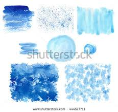 watercolor hand painting texturesblue vector stainsspot stock