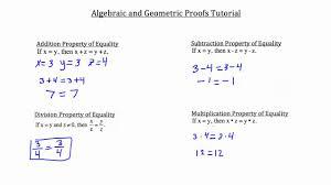 algebraic and geometric proofs youtube