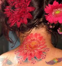michele wortman tattoos flower lotus lotus flower on back of