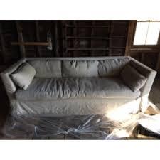 restoration hardware belgian linen slipcover sleeper aptdeco