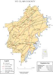 map of st maps of st clair county
