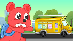 cartoon car back gummy bears misses the bus back to cartoon clips