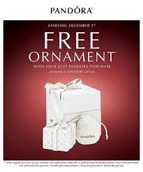 offer free pandora ornament with jewelry purchase