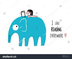like reading everywhere book on stock vector 530568673