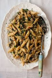 kale and sausage penne with lemon cream sauce recipe saveur