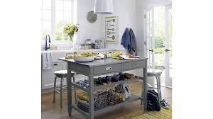 pics of kitchen islands grey kitchen island crate and barrel