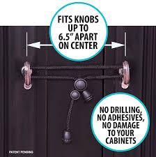Kitchen Cabinet Child Locks Amazon Com Kiscords Baby Safety Cabinet Locks For Knobs Child