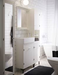 bathroom cabinets ikea slim spacious and super white bathroom