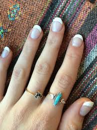 short round french manicure acrylics neat nails pinterest