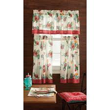 Kitchen Valance Curtains by Pioneer Woman Kitchen Curtain And Valance 3pc Set Country Garden