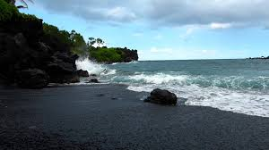 wai u0027anapanapa black sand beach on the road to hana maui hawaii