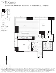 a floor plan millennium tower skybox realty