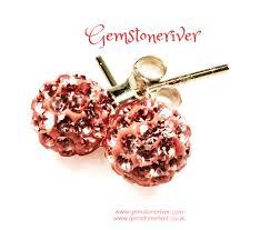 silver stud earrings uk coral blush rhinestone stud earrings sterling silver