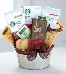 gift baskets for delivery starbucks cocoa coffee gift basket