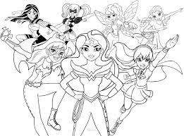 dc superhero girls coloring page