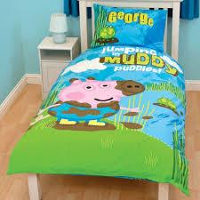 Peppa Pig Single Duvet Set Peppa Pig George Kids Boys Reversible Single Duvet Quilt Cover
