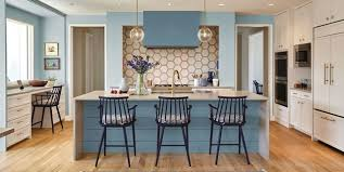 kitchen blue cabinets 40 blue kitchen ideas lovely ways to use blue cabinets and
