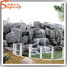 discount artificial landscaping slate rock fiberglass fake rock