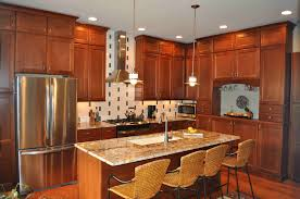 elegant classic cherry kitchen cabinets light cabinets l shaped