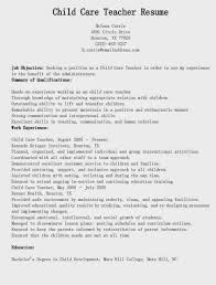 daycare resume exles child care resume http getresumetemplate info 3614
