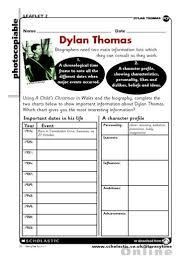 ks2 literacy biography and autobiography dylan thomas biography plan free primary ks2 teaching resource
