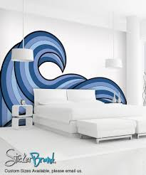 traceable wall mural ocean waves for below the chair rail but