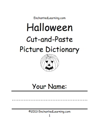 halloween activities books print enchantedlearning